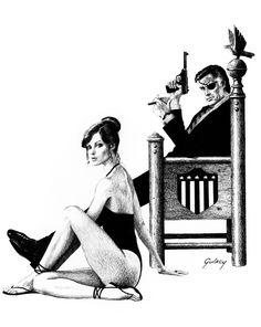 Nick Fury and Black Widow by Paul Gulacy, from the Black Widow portfolio.
