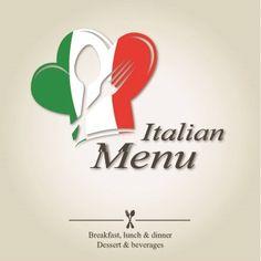 Italian Menu Design With Cutlery Symbols By Nikolae Via