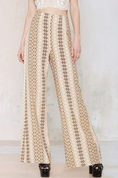 After Party Vintage Python Wide-Leg Pant - Pants | Nasty Gal