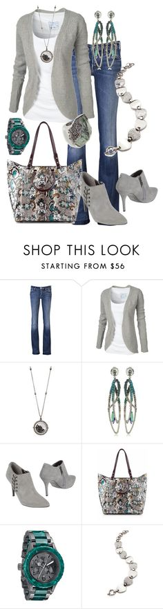 """""""Untitled #117"""" by alison-louis-ellis ❤ liked on Polyvore featuring Mother, Fat Face, Moritz Glik, Sorrelli, GUESS, Christian Louboutin, Nixon, Folli Follie and Alexis Bittar"""