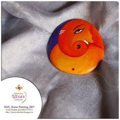 Nakshatra Utsav Collection: NUC_Stone Painting_001 #stonepainting #ganpati #gifting #decor