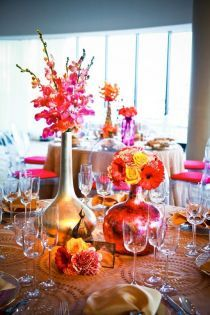 A Moroccan wedding theme is a great way to have a fun, whimsical wedding with an oriental Middle Eastern touch.You don't have to be a Moroccan or be marrying a Moroccan to enjoy this vibrant wedding theme. Floral Centerpieces, Wedding Centerpieces, Wedding Table, Floral Arrangements, Table Arrangements, Centrepieces, Centerpiece Ideas, Moroccan Wedding Theme, Moroccan Theme