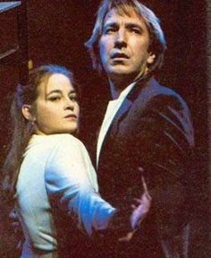 "Beatie Edney + Alan Rickman in ""Tango at the End of Winter"" 1991 Uk Actors, Actors & Actresses, British Actors, Alan Rickman Severus Snape, Royal Shakespeare Company, Harry Potter, End Of Winter, Ares, Piece Of Music"