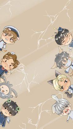 Starship Entertainment, Monsta X, Entertaining, Anime, Art, Art Background, Kunst, Cartoon Movies, Anime Music