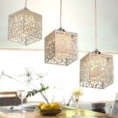 Flower Patterns Pendant Lamp Glass And Acrylic Shade Hanging Lamp Modern  Brief Restaurant Lights Three Pendant
