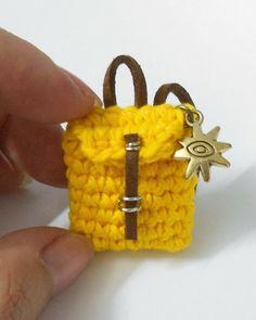 Firefly Crochet by Chieu: ☀ Mini crochet backpack ��