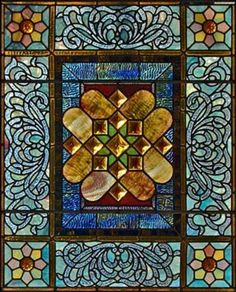Like the pattern & middle flower - Art Nouveau. Stained Glass Designs, Stained Glass Projects, Stained Glass Art, Stained Glass Windows, Mosaic Art, Mosaic Glass, Fused Glass, Art Nouveau, Belle Epoque