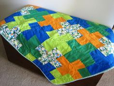 PDF Easy Baby Quilt PATTERN Positively Patchwork by milkybeer