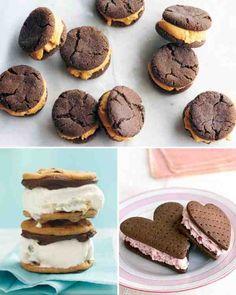 Chocolate-Creme Brulee Ice Cream Sandwiches