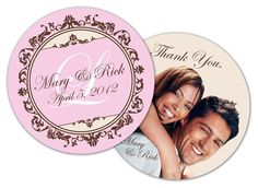 Celebrate your wedding day with personalized coasters! Great for rehearsal dinners, receptions or any get together to celebrate your special day.   These round circle shape coasters are printed on both sides in full color on water absorbent paperboard.