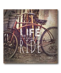 Courtside Market 'Ride of Life' Wrapped Canvas Quotes And Notes, Words Quotes, Great Quotes, Daily Quotes, Quotes To Live By, Me Quotes, Inspirational Quotes, Sayings, Words Of Encouragement