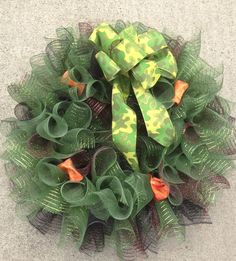 Camo wreath Custom wreaths $45 Www.facebook.com/byhisdesign1peter410