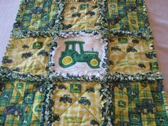 John Deere Baby Boy Security or Lovey Rag Blanket or Mini Quilt.  via Etsy.