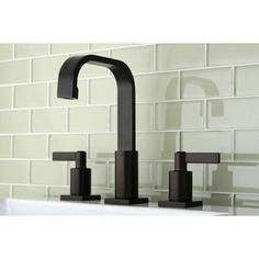 High Arch Oil Rubbed Bronze Widespread Bathroom Faucet