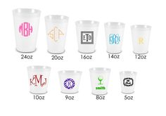 Frosted Plastic Clear Cups