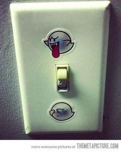 Interesante propuesta para entender cómo funciona un interruptor, a lo #mario #ghost #switch via Mario Ghost Wall Switch…