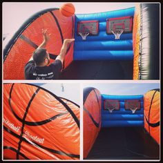 Basketball Inflatable Game, Basketball Shootout Game Rental 800-873-8989 Magic Jump Rentals  http://orangecounty.magicjumprentals.com/rentals/6_interactive-games/69_basketball-shootout  This 2 person basketball competitive game is great for backyard parties, school events,  corporate events, carnivals, and more! This basketball inflatable game is good for ages 12 to adults. Available for rental in the Los Angeles County area and greater Orange County area, call 714-465-5558 for more info.
