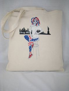 Tote Bag 100% Cotton Liberty Alice design 93bE from by AliceBrands Fab, Fun Tops, Tees and Totes... http://etsy.com/uk/shop/AliceBrands http://alicebrands.co.uk/Categories/31/Tee+%27N%27+Totes