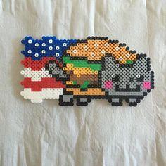 American Nyan Cat perler beads by kcreative