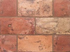Rectangle Blend Weathered 5 3/4 X 11 3/4 X 5/8. Reclaimed European Terra Cotta from Country Floors. #terracotta