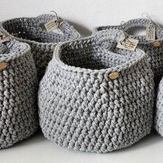 Recently all in greys. Such a grey love #basket #crochet #handmade #grey #greylove  #cotton #cord #homedecor #storage #hanging #koszyk #sznurek #wnętrze #szary #rękodzieło #szydełko