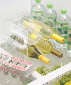 Clear Stackable Fridge Wine Holder