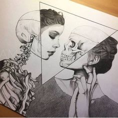 Art sketches ideas - ¤ madebypernille: i love art that mixes skeletal struc Art Drawings Sketches, Cool Drawings, Tattoo Drawings, Amazing Drawings, Hard Drawings, Tattoo Sketches, Skeleton Drawings, Skeleton Art, Ink Illustrations
