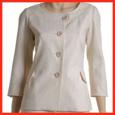 Linen Curved Neck Jacket in Ivory This jacket is brand-new and still has the tags from Macy's. It has been hanging in my closet and was never worn. It is a size small. Max Studio Jackets & Coats