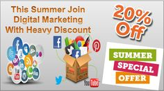 Get a heavy discount at digital marketing course join us for bright future.
