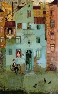 Грузинский художник Отар Имерлишвили (Otar Imerlishvili)