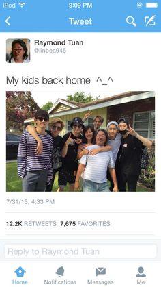 Mark's parents are the coolest I swear (I just wonder were Jackson is ) Youngjae, Kim Yugyeom, Got7 Jackson, Jackson Wang, Tyga, Jaebum, Vixx, Kpop, Raymond Tuan