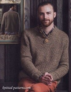 Men's knitting sweater pattern free
