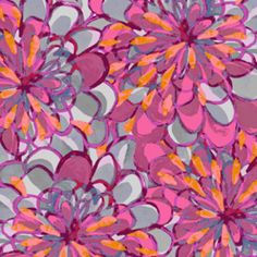 P & B Textiles House Designer - Intersections - Petals in Rubellite