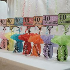 Some special turning 40?  Celebrate their 40th Birthday by telling them just how FABULOUS they are!  These signs make great additions to your centerpieces or simply add one to a bouquet of flowers as a special touch!