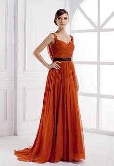 Sweetheart Neckline Black Empire Waist Evening Dress, Belt With Straps Long Evening Dress Wholesale
