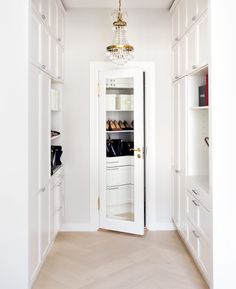 full length mirror on the inside of closet door
