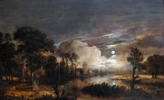 File:Moonlit Landscape with a View of the New Amstel River and Castle Kostverloren by Aert van der Neer.JPG
