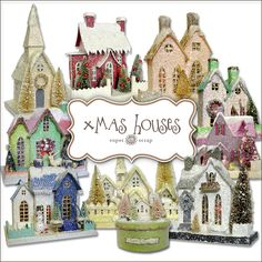 Freebies Xmas Houses Kit