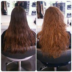 avant aprs ondulations beach waves semi permanentes ralis au salon herveou coiffure brest - Color Out Avant Apres
