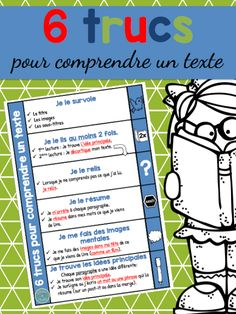 Le cahier de Pénélope Read In French, Learn French, French Teacher, Teaching French, Autism Education, Special Education, Reading Strategies, Reading Comprehension, Material Didático