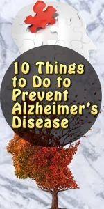10 Things to Do to Prevent Alzheimer's Disease