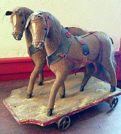 Team of Horses -  Pull Toy.