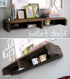 pallet shelf...now I