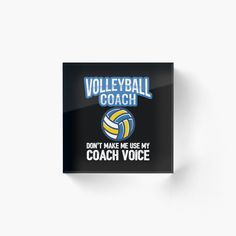 Volleyball Coach Acrylic Block.  This cool volleyball coach acrylic block will look great in any volleyball coaches home. Also available in volleyball coach t-shirt, volleyball hoodie and volleyball sweatshirt. This volleyball coach acrylic block would make a great gift idea for any friend or family member that you know who coaches volleyball. | volleyball mug | volleyball clothes | volleyball posters | #volleyball #volley #beach