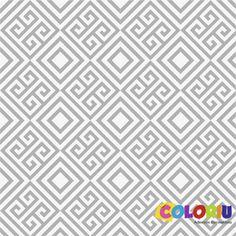 PAPEL DE PAREDE ADESIVO GEOMÉTRICO GEO-013 - COLORIU
