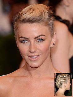 Pinned Textured Updo Julianne Hough