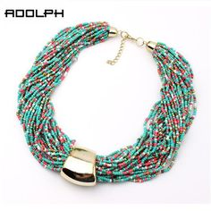 Star Jewelry Fashion Bohemia 7 Colors Candy Beads Statement Necklace For Woman 2015 New Gold Plated Pendants Choker Necklaces 30 | Price: US $3.02 | http://www.bestali.com/goto/32367318763/10