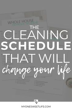 cleaning schedule A step-by-step guide on the cleaning process that changed my life. I am a firm believer that this cleaning method can work for anyone, as long as you put in the work and make it work for your own life. via myonesweetlife Deep Cleaning Tips, House Cleaning Tips, Diy Cleaning Products, Cleaning Solutions, Cleaning Hacks, Weekly Cleaning, Cleaning Recipes, Organizing Tips, Spring Cleaning Schedules