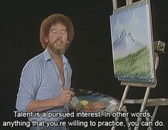 Essential Life Lessons From Bob Ross You can achieve anything you set out to do. - 20 Essential Life Lessons From Bob RossYou can achieve anything you set out to do. - 20 Essential Life Lessons From Bob Ross Brunette Bob, Peintures Bob Ross, Motivational Messages, Inspirational Quotes, Motivation Letter, Daily Motivation, Cool Words, Wise Words, Movie Quotes