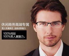 free shipping, $723.62/piece:buy wholesale  design titanium semi-rimless glasses…